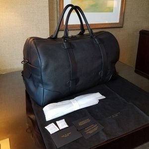 NWT Rag & Bone Aviator Weekender Bag Black Leather
